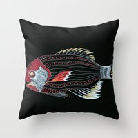 Happy New Fish  Throw Pillow