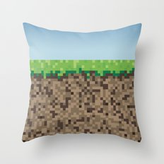 Minecraft Block Throw Pillow
