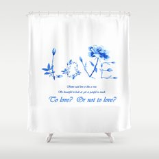 Love Quote Wall Art  Shower Curtain