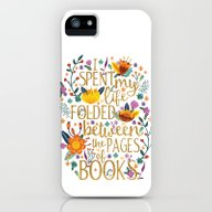 Folded Between The Pages… iPhone (5, 5s) Slim Case