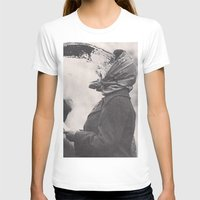 Human Water Fountain Womens Fitted Tee White SMALL