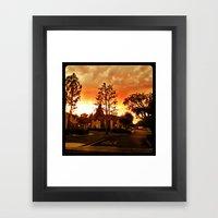 Sky at dusk. Framed Art Print