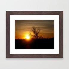 Awakening sun Framed Art Print