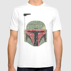 Lines of Boba Fett SMALL Mens Fitted Tee White