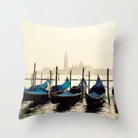 Gondolas in Color Throw Pillow