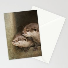 The curious otters Stationery Cards
