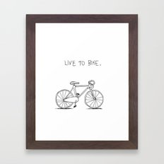 Live to Bike Framed Art Print