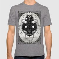 Luck Dragon Mens Fitted Tee Tri-Grey SMALL