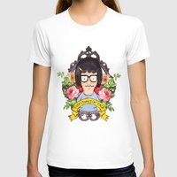 Tina - Everything's ok face  Womens Fitted Tee White SMALL