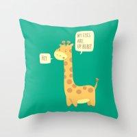 Giraffe problems! Throw Pillow