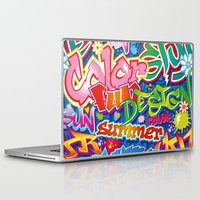 graffiti Laptop & iPad Skins featuring Graffiti by Helene Michau
