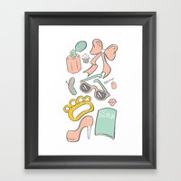 Bad Girl Seek And Find Framed Art Print