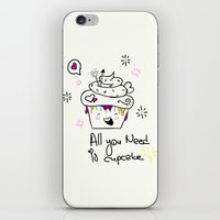 Happy Cupcake iPhone & iPod Skin