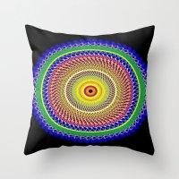 Carnival Mandala Throw Pillow