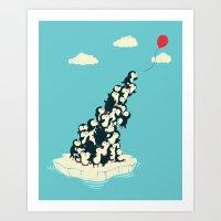 balloon Art Prints featuring Balloon! by Jay Fleck