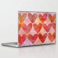 hearts Laptop & iPad Skins featuring Hearts by LebensARTdesign