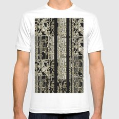 DATA White SMALL Mens Fitted Tee