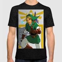 The Legend of Zelda: Link Mens Fitted Tee Tri-Black SMALL