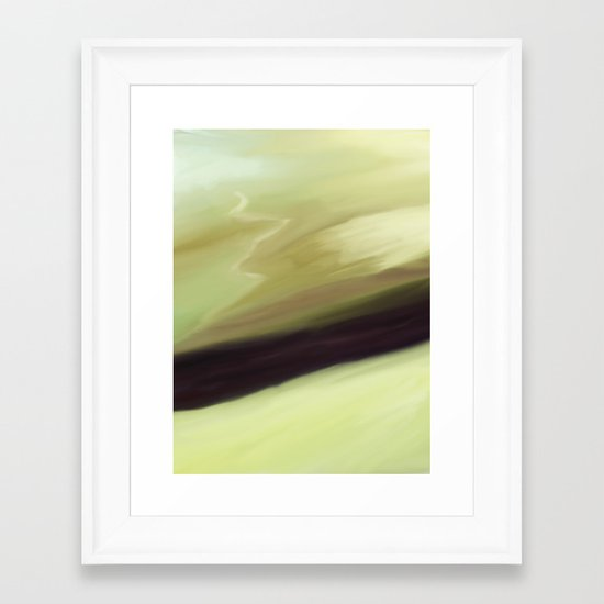 Waiting in the mist Framed Art Print