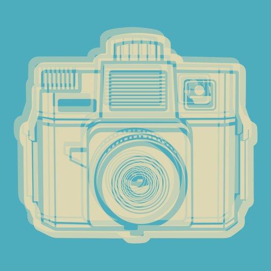 I Still Shoot Film Holga Logo - Turquoise/Tan Art Print