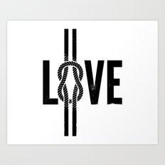 Love Knot (Black) Art Print