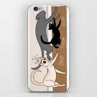 Furred Frenzy - Cat Ramp… iPhone & iPod Skin