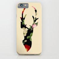 Flower Deer Silhouette iPhone 6 Slim Case