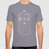 Doctor Who Tardis Mens Fitted Tee Slate SMALL