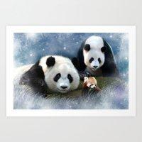 Pandas Art Print