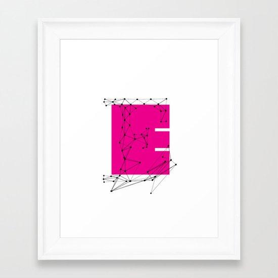 E (abstract geometrical type) Framed Art Print