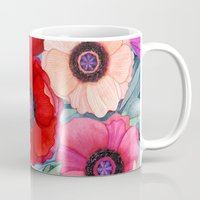 Poppy and Olive Watercolor  Mug