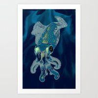 Subaquatic Aurora  Art Print