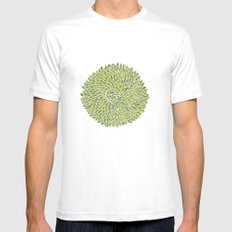 Green Chrysanthemum  Mens Fitted Tee White SMALL