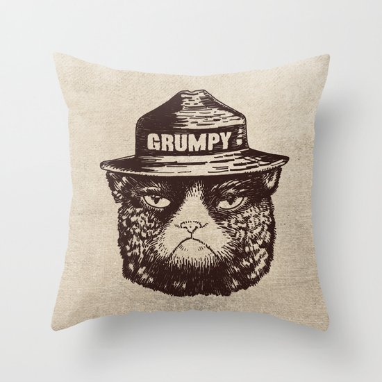 Grumpy PSA Throw Pillow