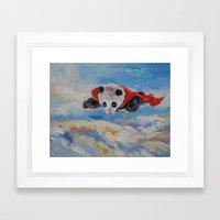 Panda Superhero Framed Art Print