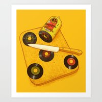 Art Print featuring 45 rpm Deli by Alvaro Arteaga