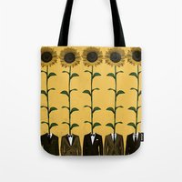 Sunflowers In Suits Prin… Tote Bag