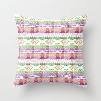 Watercolour Quilt #2 Throw Pillow
