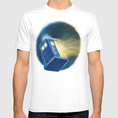 The TARDIS Mens Fitted Tee SMALL White
