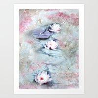 SUMMER LILY POND Art Print