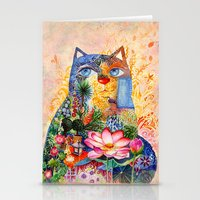 Lotus Cat Stationery Cards