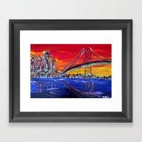 Ben Franklin Bridge Sunr… Framed Art Print