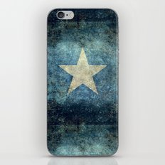 Somalian national flag - Vintage version iPhone & iPod Skin