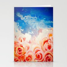 Peachy Roses Stationery Cards