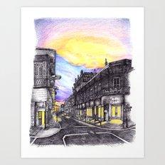 New Orleans at Sunset Art Print