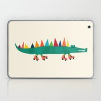 Crocodile On Roller Skat… Laptop & iPad Skin
