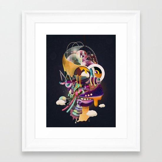HOMER ON ACID Framed Art Print