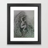 Blindfolded Angel Framed Art Print