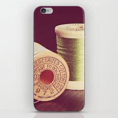 Wooden Spools of Thread iPhone & iPod Skin