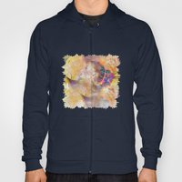 profile woman and flowers Hoody